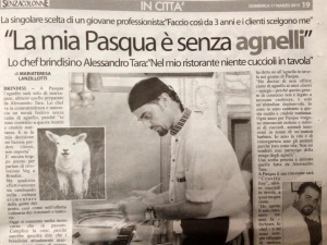 No all'agnello a Pasqua