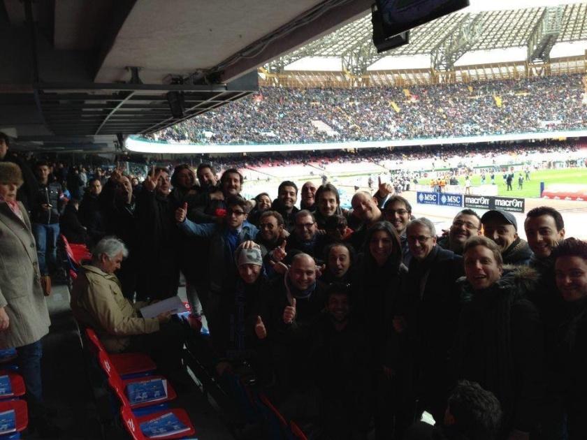 Il team Made in sud a sostenere il Napoli allo Stadio San Paolo