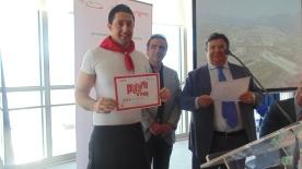 fratelli salvo da tre generazioni alla premiazione Premiato Gambero Rosso Presentazione guida Pizzerie d'Italia città del gusto 1 Luglio 2013