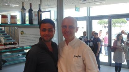 checco smile e franco pepe pizzaiolo vincitore Gambero Rosso Presentazione guida Pizzerie d'Italia cirrà del gusto 1 Luglio 2013