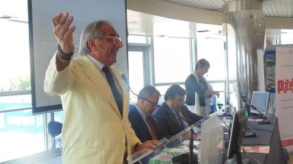 Presidente Cis di Nola Presidente Gambero Rosso Paolo Cuccia Presentazione guida Pizzerie d'Italia cirrà del gusto 1 Luglio 2013
