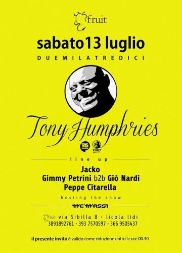 tony humpries a napoli fruit disco