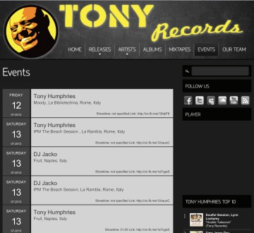 tony records tony humpries napoli disco fruit