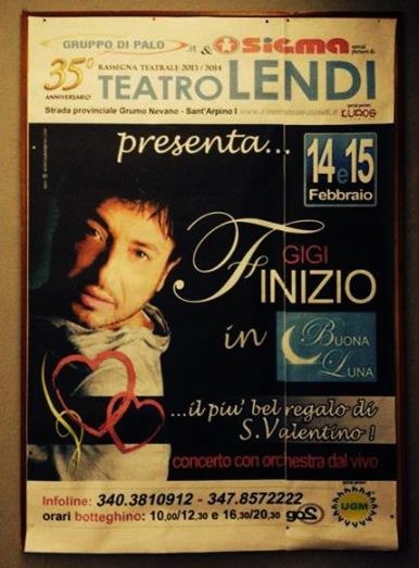 GIGI FINIZIO al TEATRO LENDI DI SANT ARPINO (Caserta) il 14 / 15 febbraio