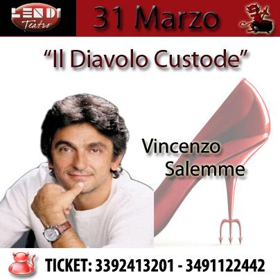 Il Diavolo Custode. Vincenzo Salemme nella sua ultima opera al Teatro Lendi.