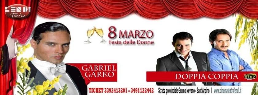 Gabriel Garko festa delle donne 8 marzo napoli evento