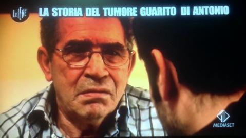 Le Iene cura al tumore dieta vegetali Vegano Italia 1 Antonio