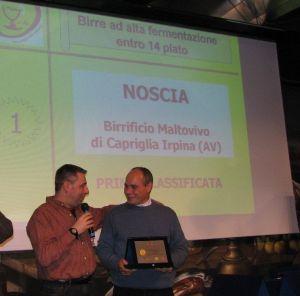Noscia Prima Classificata premio BIRRA DELL'ANNO 2006 Categoria Birre ad alta fermentazione