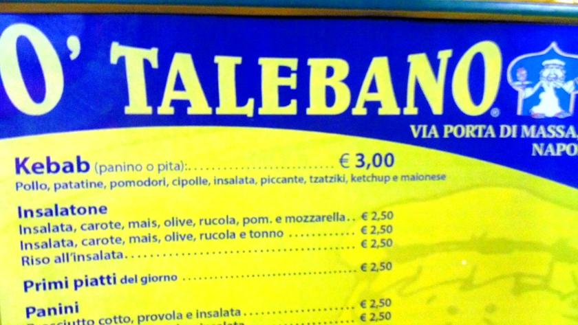 Listino prezzi o' taleban kebab a napoli quanto si paga?