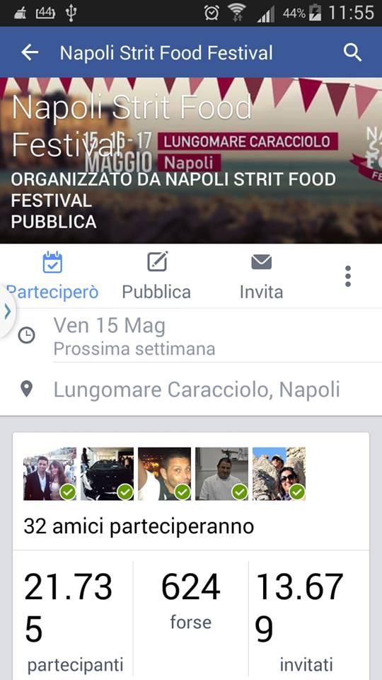 EVENTO NAPOLI STRIT FOOD FESTIVAL - QUANTI PARTECIPANTI CI SARANNO