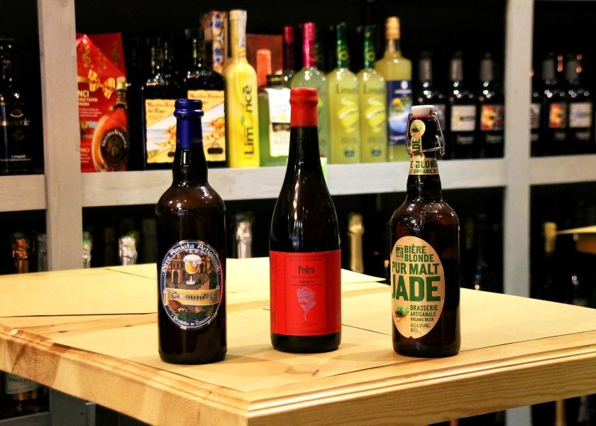 pedro, jade, birra artigianale in bottiglia all'enoteca fiordigusto, volla, napoli
